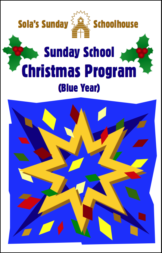 Sola Christmas Program (Blue Year) S-A950