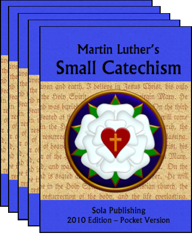 Martin Luther's Small Catechism (Blue, 6-pack) C-8206