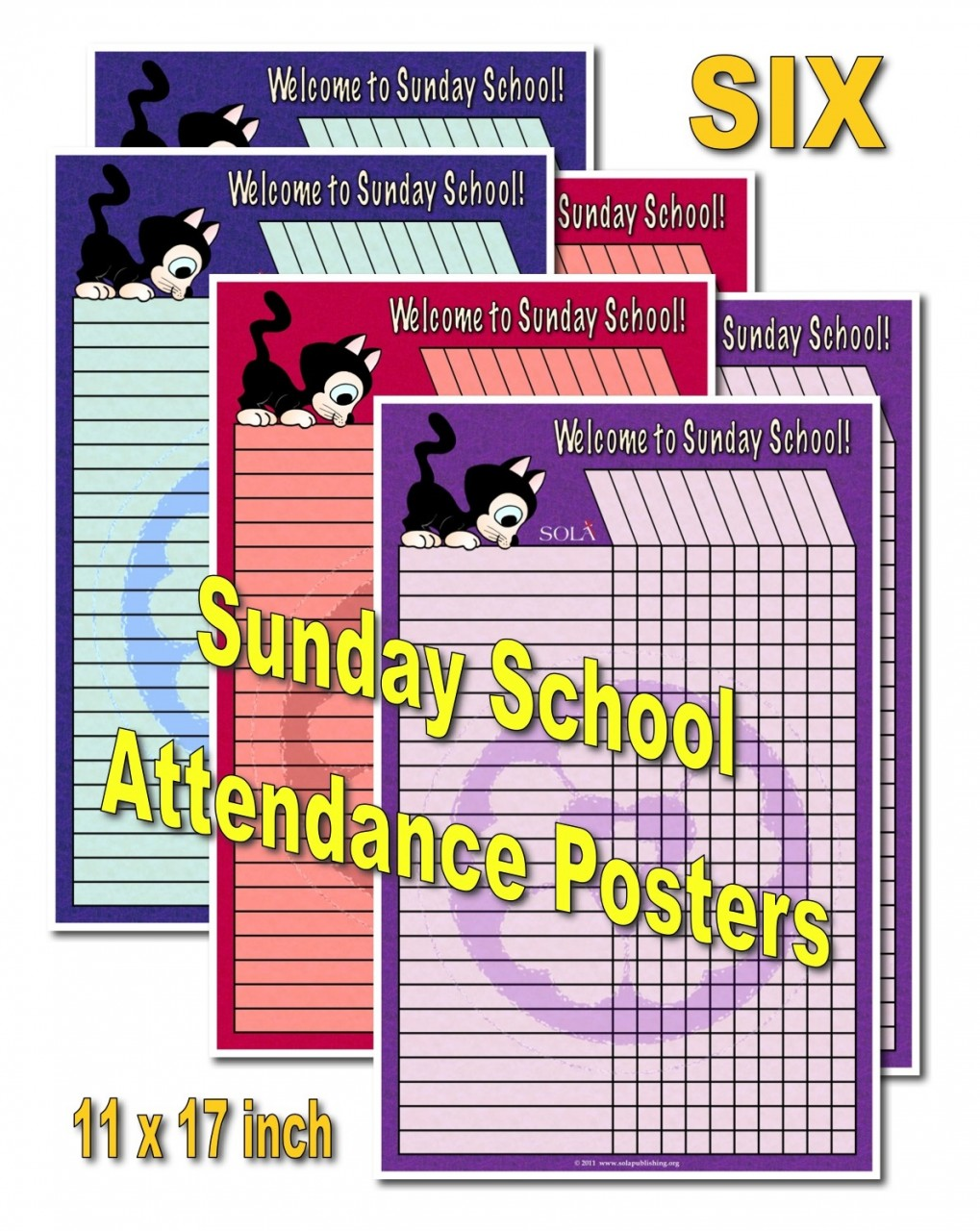 Sunday School Attendance Posters S-0110