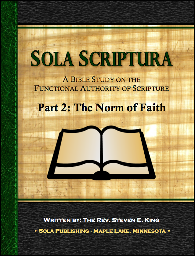 Sola Scriptura Part 2: The Norm of Faith - Participant A-7030