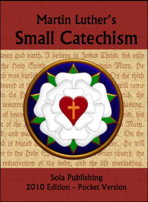 Luther's Small Catechism (Red: Holy Catholic Church) C-8101