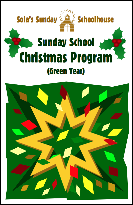 Sola Christmas Program (Green Year) S-C950
