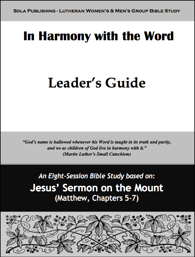 In Harmony with the Word - Leader W-0715