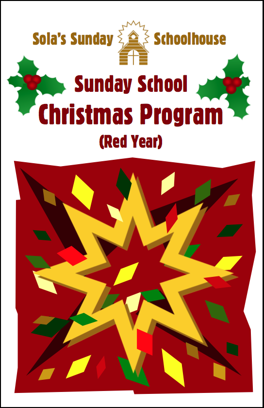 Sola Christmas Program (Red Year) S-B950
