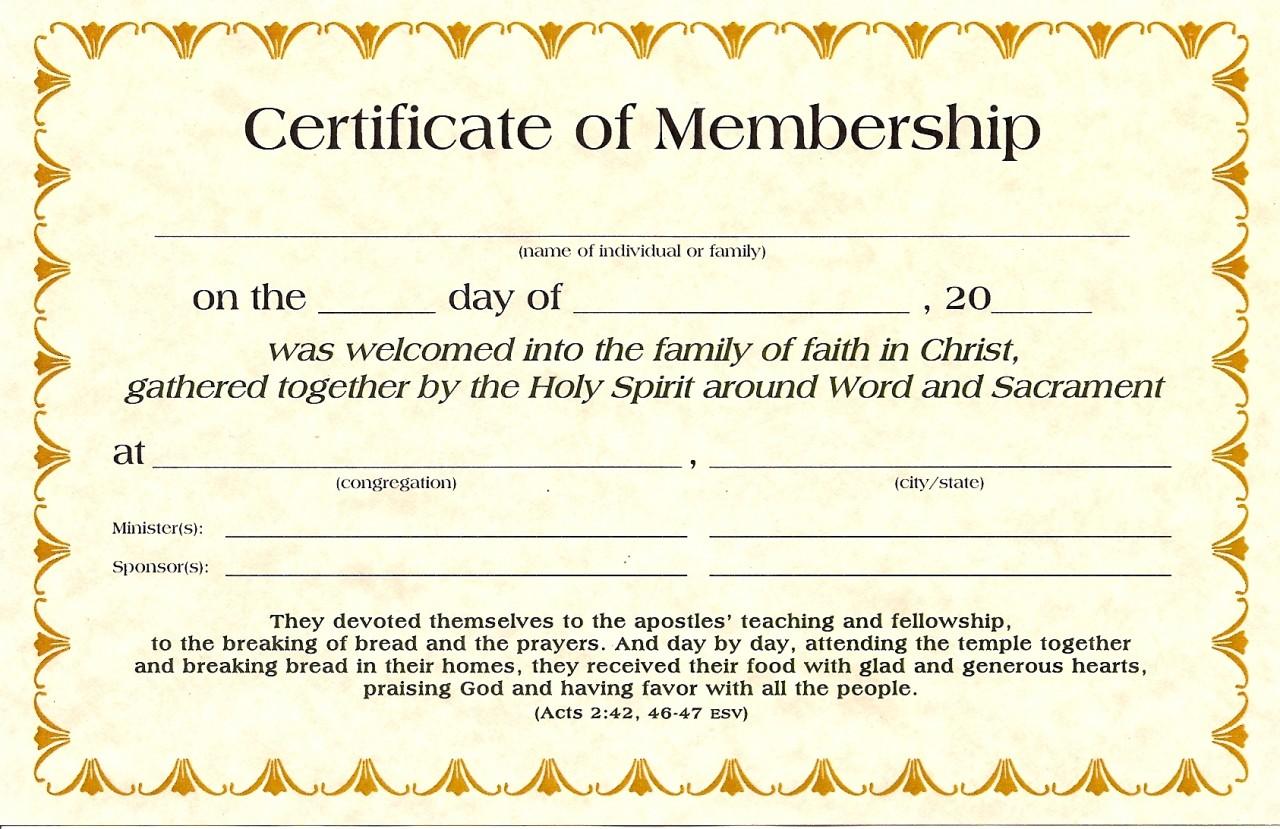 Membership Certificates K-1560