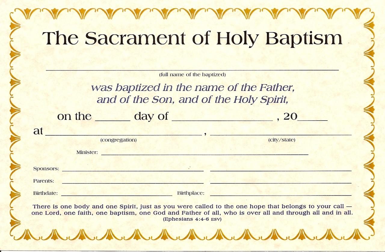 Baptism Certificates K-1520