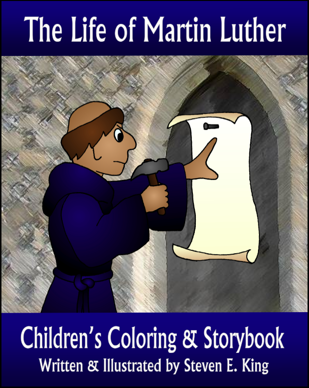 The Life of Martin Luther Children's Coloring & Storybook