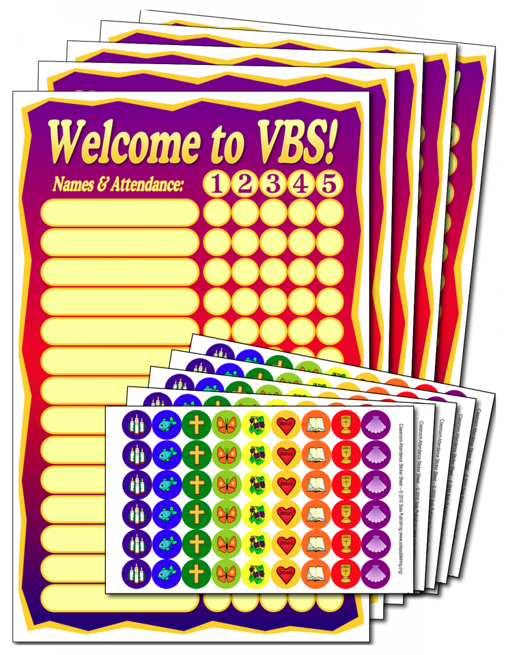 VBS Attendance Posters & Stickers V-5000