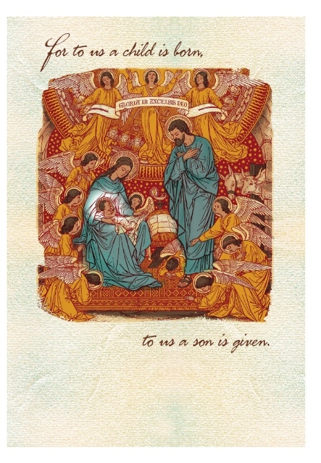 A Child is Born to Us Card (Christmas)