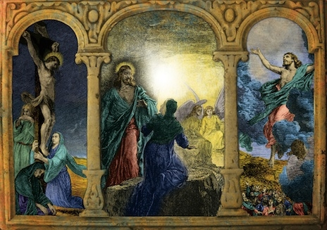 Easter Triptych / Christ is Risen! Card (Easter)