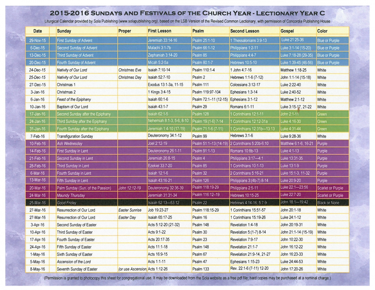 Search results for catholic liturgical calendar 2015 for Worship schedule template