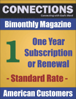 Connections Magazine - 1 Year Subscription (American) P-A101