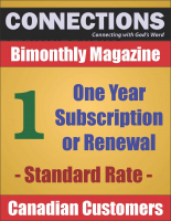 Connections Magazine - 1 Year Subscription (Canadian) P-C101