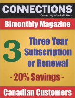Connections Magazine - 3 Year Subscription (Canadian) P-C103