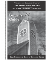 BOC The Smalcald Articles - Leader's Guide L-5035