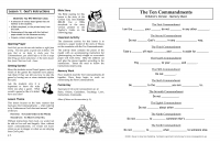 Learning the Ten Commandments (Teacher's Guide)